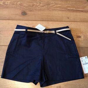NWT Zara Basic Collection sz M navy blue shorts